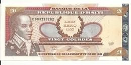 HAITI  20 GOURDES  2001 UNC P 271A - Haïti