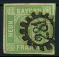 BAYERN QUADRATE Nr 5cIII GMR 281 Zentrisch Gestempelt X8805B6 - Bavaria