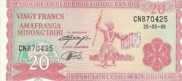BURUNDI 20 FRANCS 1995 UNC P 27 C - Burundi
