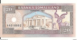 SOMALILAND 20 SHILLINGS 1994 UNC P 3 A - Somalie