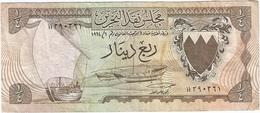 Bahrein - Bahrain 1/4 Dinar 1964 Pick 2a Ref 2 - Bahrein