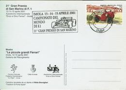IMOLA - Autodromo Internazionale Enzo E Dino Ferrari - 2001 - 21° GRAN PREMIO DI SAN MARINO DI F.1 - - Automobile - F1