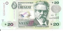 URUGUAY 20 PESOS 2011 UNC P 86 - Uruguay