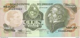URUGUAY 100 NUEVOS PESOS ND1987 UNC P 62A - Uruguay