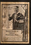 FOUNTAIN PEN ADVERTISEMENTS - 2 Original Adverts - Waterman's, Lincoln - Pens