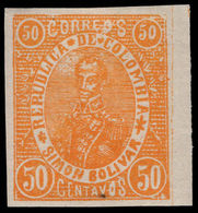 Colombia 1903-04 Barranquila 50c Orange Lightly Mounted Mint. - Colombia
