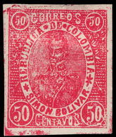 Colombia 1903-04 Barranquila 50c Rosine Lightly Mounted Mint. - Colombia