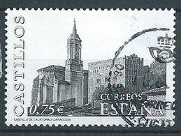 ESPAGNE SPANIEN SPAIN ESPAÑA 2002 CASTEL OF CALATORAO, ZARAGOZA  ED 3891 YV 3456 MI 3736 SG 3861 SC 3160 - 1931-Today: 2nd Rep - ... Juan Carlos I