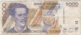 Ecuador 5.000 Sucres 1-12-1987 Pick 126a Ref 1 - Ecuador