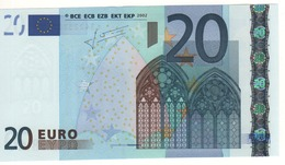"20 EURO  ""L""   FINLAND    Firma Trichet   G 015 F4    /  FDS - UNC - EURO"