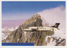 1176/ BUDDHA AIR, Nepal, Beech 1900D.- Mt. Everest.- Official Postcard Of Company.- Non écrite. Unused. Non Scritta. - 1946-....: Era Moderna