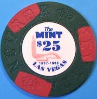 $25 Fantasy Casino Chip. The Mint, Las Vegas, NV. N11. - Casino