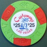 $25 Fantasy Casino Chip. Castaways, Las Vegas, NV. N12. - Casino