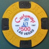 $500 Fantasy Casino Chip. Castaways, Las Vegas, NV. N12. - Casino