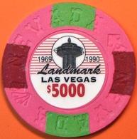 $5000 Fantasy Casino Chip. Landmark, Las Vegas, NV. N13. - Casino