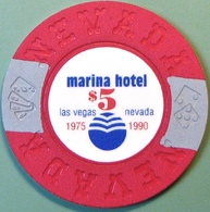 $5 Fantasy Casino Chip. Marina, Las Vegas, NV. N14. - Casino