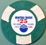 $25 Fantasy Casino Chip. Marina, Las Vegas, NV. N14. - Casino