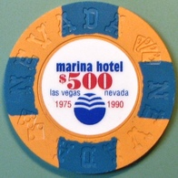 $500 Fantasy Casino Chip. Marina, Las Vegas, NV. N14. - Casino