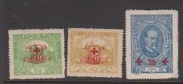 Czechoslovakia SG 221-223 1920 Red Cross Fund,mint Hinged - Czechoslovakia