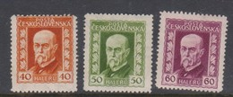 Czechoslovakia SG 234-236 1925 President Masaryk,mint  Hinged - Czechoslovakia