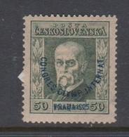 Czechoslovakia SG 246 1925 1st Olympic Congress 50h Green,mint Never Hinged - Czechoslovakia