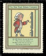 "American Poster Stamp, Reklamemarke, Cinderella, The New York Thomas Edison Company, Letter ""S"" From Alphabet Set - Erinnofilia"