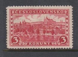 Czechoslovakia SG 264a 1926 Hradcany At Prague 3k Red,mint Hinged - Czechoslovakia