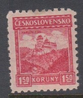 Czechoslovakia SG 271 1926 Karlstein Castle,1k.50 Red,mint Hinged - Gebruikt
