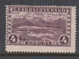 Czechoslovakia SG 276 1927 Great Tatra,4k Purple ,mint Hinged - Czechoslovakia