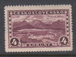Czechoslovakia SG 276 1927 Great Tatra,4k Purple ,mint Never Hinged - Czechoslovakia