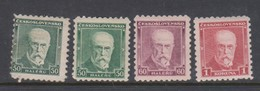 Czechoslovakia SG 302-304 1930 President Masaryk,mint Hinged - Czechoslovakia