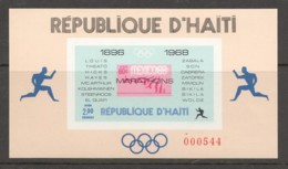 1969  Champions Du Marathon Olympique  Bloc Feuillet 2G Non-dentelé - Haïti