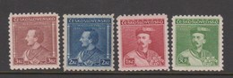 Czechoslovakia SG 320-323 1932 Birth Centenary Of Dr Tyrs ,mint Hinged - Czechoslovakia