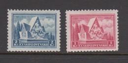 Czechoslovakia SG 339-340 1935 20th Anniversary Arrras Battle ,mint Hinged - Czechoslovakia