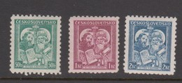 Czechoslovakia SG 342-344 1935 Catholic Congress,mint  Hinged - Czechoslovakia