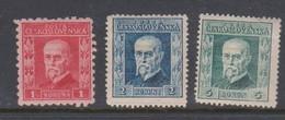 Czechoslovakia SG 342-344 1935 Prague Catholic Congress,mint Hinged - Czechoslovakia