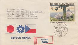 Enveloppe  Recommandée  FDC  1er  Jour   TCHECOSLOVAQUIIE    Exposition  Universelle   OSAKA   1970 - 1970 – Osaka (Japon)
