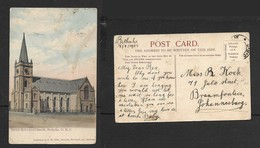 South Africa, Dutch Reformed Church, Beethulie O.R., Used, STAMP REMOVED - South Africa