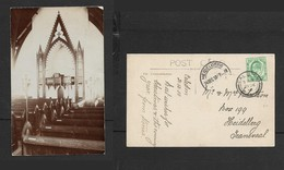 South Africa, Dutch Reformed Church, Caledon Pulpit, Used, 1/2d, CALEDON 21 DE 10 > HEIDELBERG, Real Photo - South Africa