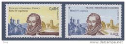 N° 4698 Henri IV Faciale 0,60 € + 732 Andorre 0,60 € - France