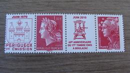 40e Anniversaire Du 1er Timbre-poste Imprimerie De Boulazac - 2 TIMBRES N° 4459 + 4460 - Année 2010 - Neufs** - Neufs