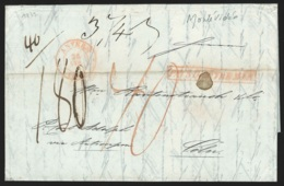 """L. Datée 1839 Datée De Montévidéo Avec Càd """"ANVERS"""" + Encadré """"Pays D'Outremer"""" Pour Cologne. R - 1830-1849 (Belgique Indépendante)"""