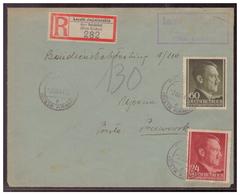 GG WKII (007478) Brief MIF, Gelaufen Mit Tagesstempel Und Landpoststempel Und Landposteinschreibezettel, Am 3.3.1944 - Besetzungen 1938-45