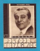 Musique. Catalogue Illustré Des Disques  POLYDOR-BRUNSWICK 1932. - Music & Instruments