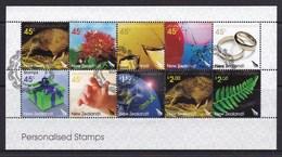 New Zealand 2005 Personalised Stamp Sheetlet Used - New Zealand