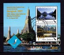 New Zealand 2007 Bangkok - 20th Asian Exhibition Minisheet Used - New Zealand