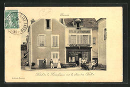 CPA Samois, Hotel De La Renaissance Sur La Place Des Halles - Samois
