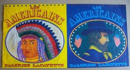 No PAYPAL !! GIGI Robert Gigi Moliterni Pub GALERIES LAFAYETTE Américains 3 Cow Boy Indien ,Doc Personnel Dessinateur BD - Affiches & Offsets