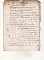 Geen Montauban 7 Sept 1677 St Gaudens Maitrise Des Eaux Et Forets Du Comminge Concerne Foret D'HUOS 8 Scans - Cachets Généralité