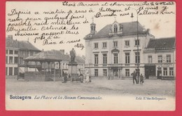 Zottegem / Sottegem - La Place Et La Maison Communale - 1902 ( Voir Verso ) - Zottegem